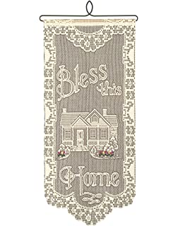 heritage lace wh 01e bless this home 12x27 ecru wall hanging