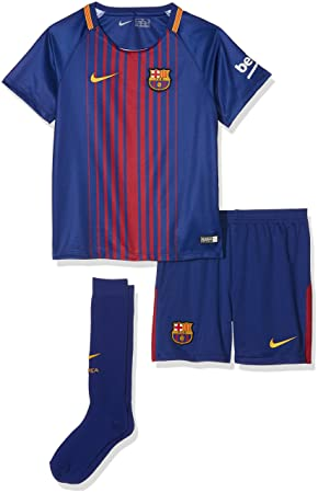Nike 2017-2018 Barcelona Home Little Boys Mini Kit  Amazon.co.uk ... 2517d6a63057