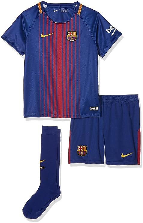 Nike 2017-2018 Barcelona Home Little Boys Mini Kit: Amazon.es ...