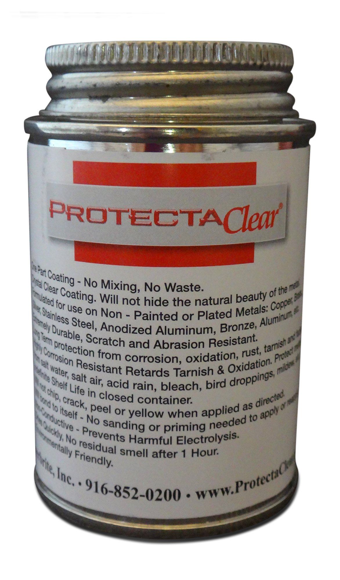 ProtectaClear 4 Oz. Clear, Protective Coating for Polished Metals, Stainless Steel, Jewelry - Prevent Tarnish & Protect Skin from Allergies