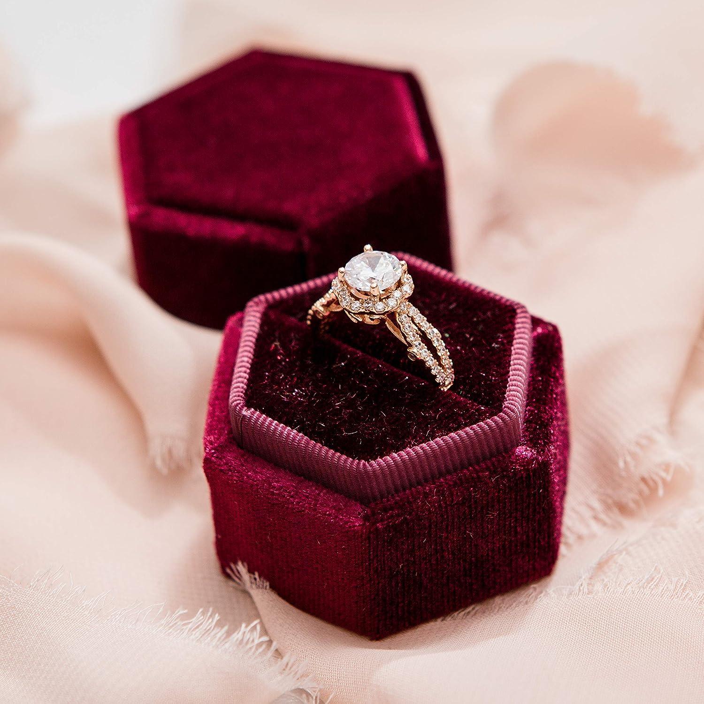 Sumptuous Velvet Wedding CHELSEA Heirloom Ring Box Wedding Ring Holder Burgundy Velvet Ring Box Proposal Ring Box Luxury Ring Box