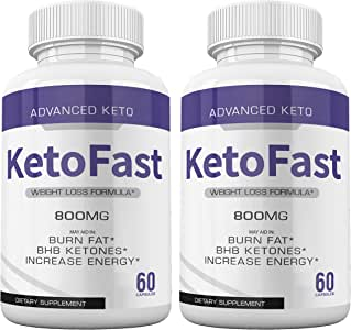 (2-Pack) Keto Fast Diet Pills Advanced Ketogenic Keto Fast Burn Ultra Weight Management Capsules 700mg Pure Keto Fast Supplement for Energy - BHB Boost Exogenous Ketones for Rapid Ketosis Men Women