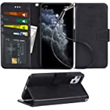 Arae Case for iPhone 11 Pro Max PU Leather Wallet Case Cover [Stand Feature] with Wrist Strap and [4-Slots] ID&Credit…