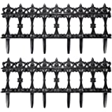 Trenton Gifts 6 PC Garden Fence Border Edge Sections Edging Flower Bed Barrier Decor Patio Fences