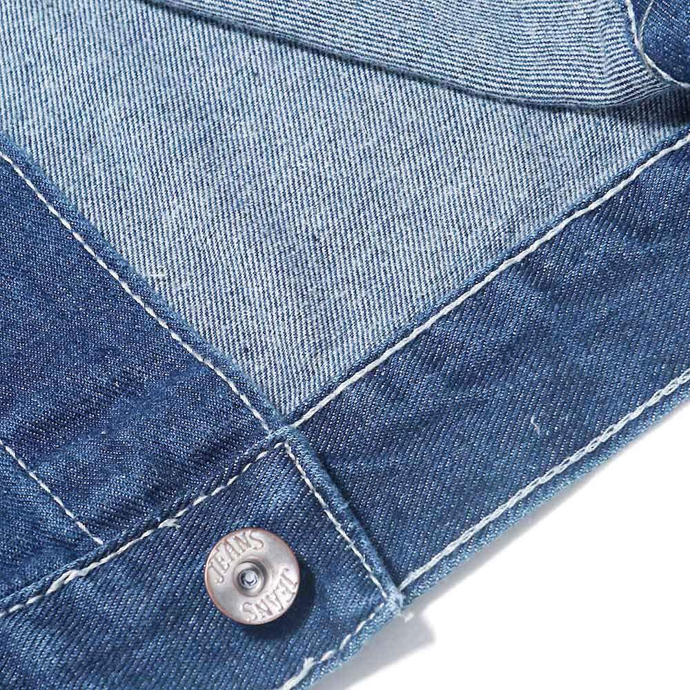 293699085ff4f ... MODOQO Mens Long Denim Jacket Long Sleeve Vintage Wash Jean Coat Top  Outwear MODOQO-Mens ...
