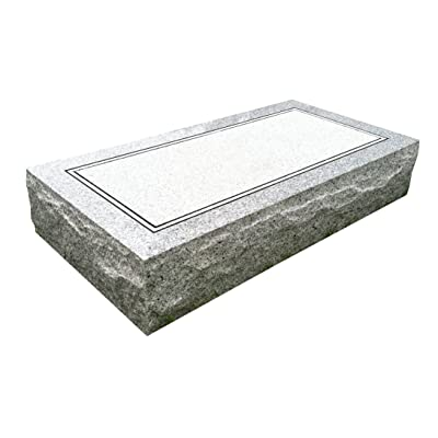 "Upstate Stone Works Granite Headstone 24""x12""x4"" Plain : Other Products : Garden & Outdoor"