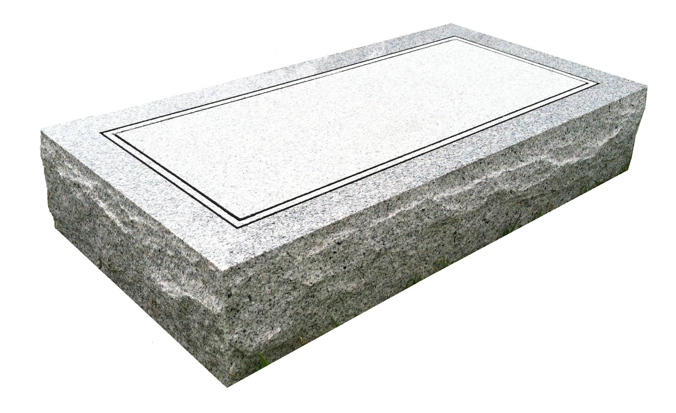 Granite Headstone 24''x12''x4'' Plain
