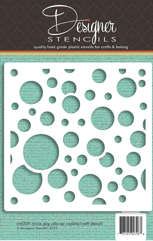 Circle Pop Allover Cookie and Craft Stencil CM009 by Designer Stencils