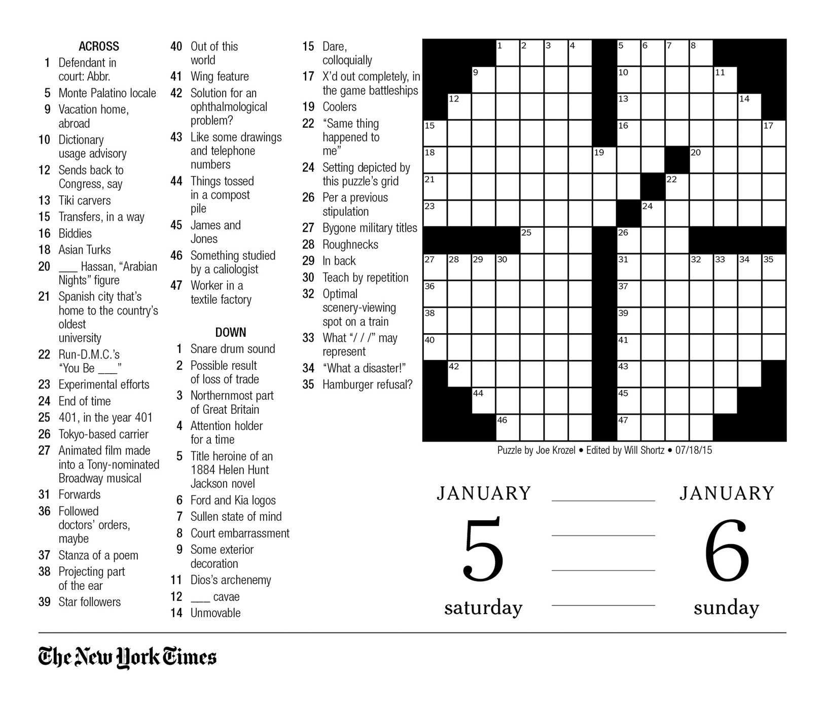 photograph about Printable Ny Times Crossword Puzzles known as The Fresh new York Situations Crossword Puzzles 2019 Working day-in the direction of-Working day