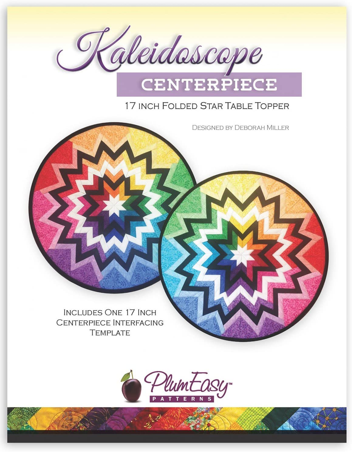 Kaleidoscope Centerpiece 17 Inch Folded Star Table Topper by Plum Easy Patterns PEP-127