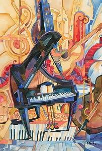 Toland Home Garden The Orchestra 12.5 x 18 Inch Decorative Colorful Musical Instrument Piano Guitar Cello Garden Flag