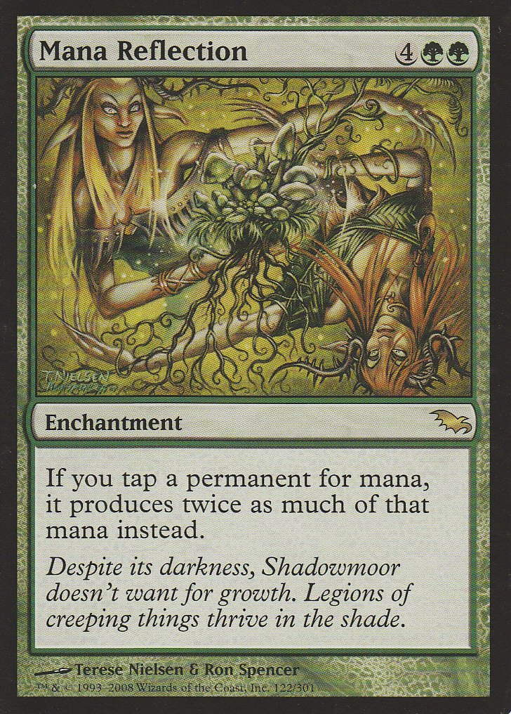 Magic  the Gathering - Mana Reflection - Shadowmoor by Magic  the Gathering B002L4UOT0 Einzelkarten Neuheit | Mittel Preis