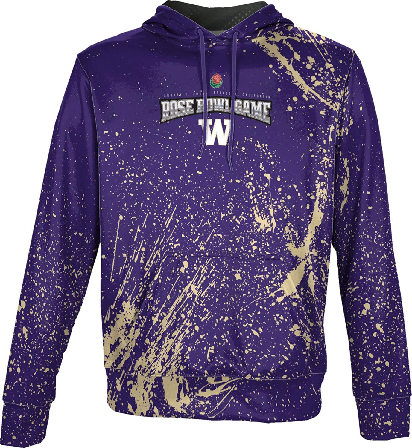 Splatter ProSphere Rose Bowl University of Washington Boys Pullover Hoodie