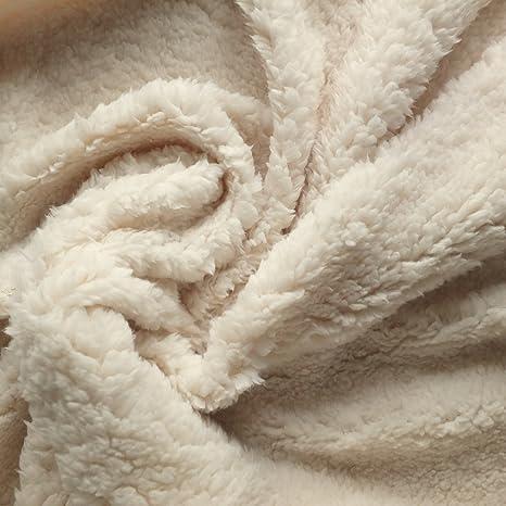 Tela de forro polar de lujo, de textura suave, ideal para mantas y ropa