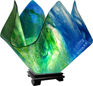 product image for Jezebel Signature VALA-FP16-FER Flame Glass Vase Lamp, Large, Fern