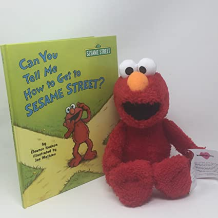 Amazon Com Sesame Street Kohls Cares Elmo Plush Toy With Book