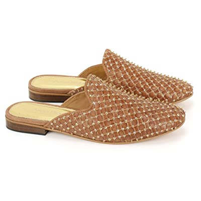 Anna Ricci Woven Leather Upper with Full Embellishment | Flats