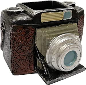 M2cbridge Resin Retro Camera Pen Pencil Holder Old Book Design Office Desk Organizer Stationery Storage (Camera)