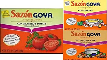 Sazon Goya Seasoning Variety Bundle, 1.41 oz (Pack of 6) includes 2-