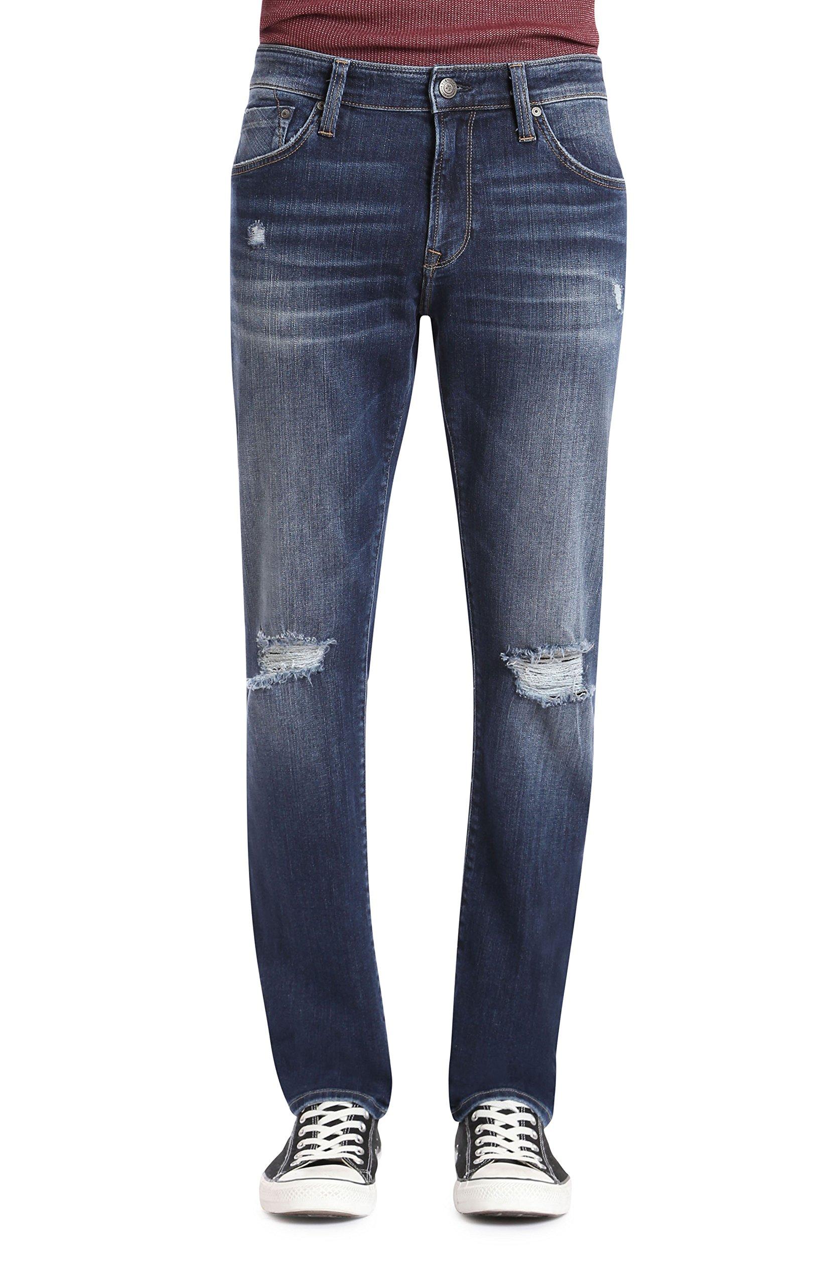 Mavi Men's Jake Regular-Rise Tapered Slim Fit Jeans, Deep Rip&used Authentic Vintage, 36W x 32L