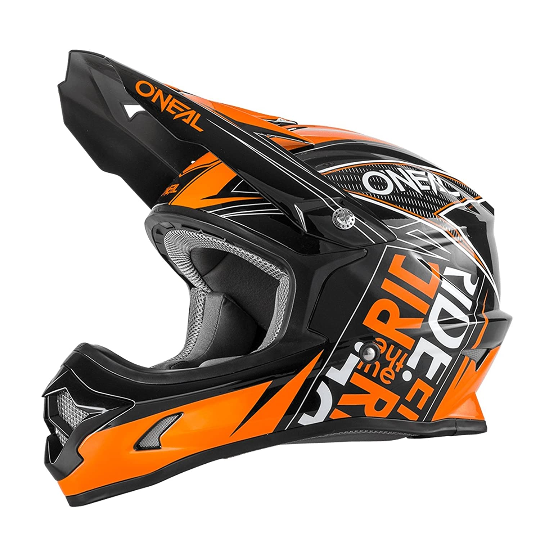 0623-55 ONeal 3Series MX Helm Fuel Schwarz Orange Motocross Enduro Cross Motorrad 2017