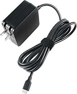 65W USB C Charger for HP Spectre x360 13 13-ac013dx 15 15T EliteBook x360 1030 G3 1040 G6 Elite x2 1012 G1 1013 G3 HP Pro x2 612 G2 860209-850 934739-850 Laptop AC Adapter Power Cord Supply