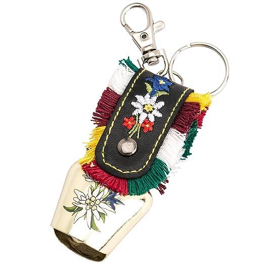 LEVIVO Llavero con Diferentes diseños, Cencerro, Metal, Colorido, 12x5x1 cm