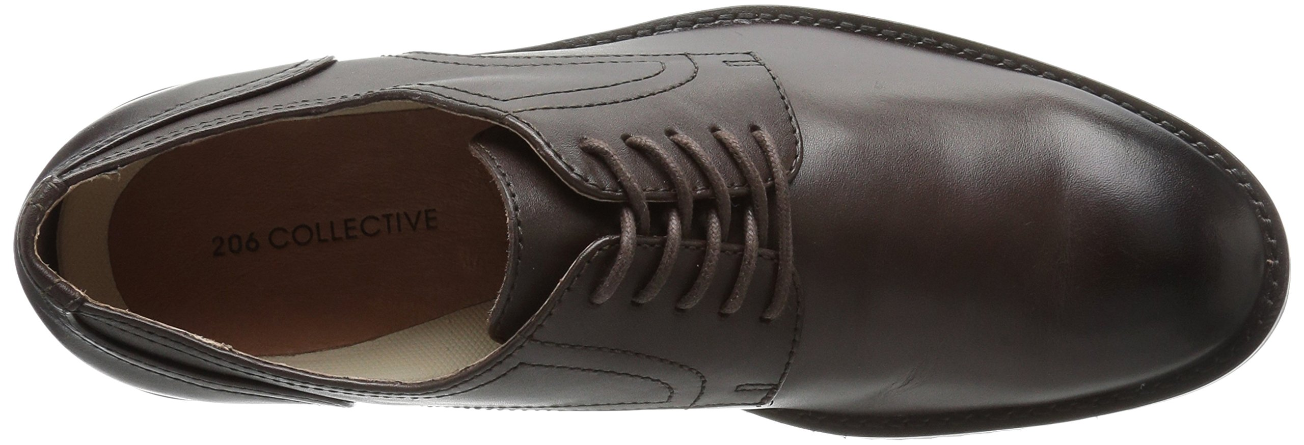 206 Collective Men's Concord Plain-Toe Oxford Shoe, Chocolate Brown, 11 D US by 206 Collective (Image #8)
