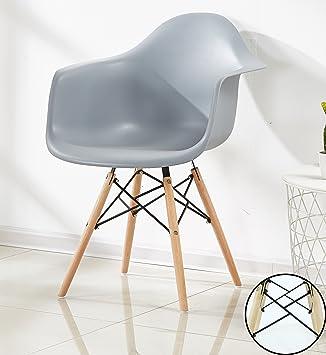 P U0026 N Homewares Romano Sessel Tub Stuhl Esszimmerstuhl In Grau Skandinavischer  Design Stuhl