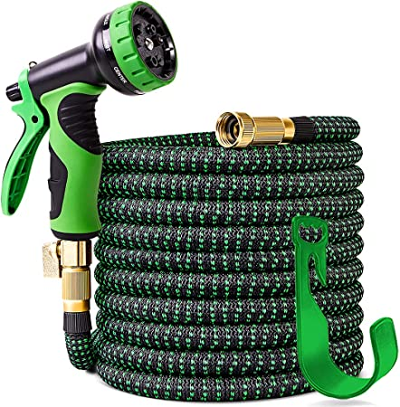 Amazon Com 100 Ft Expandable Garden Hose Upgraded Leakproof