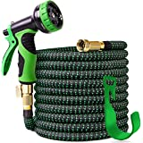 """100 ft Expandable Garden Hose,Upgraded Leakproof Lightweight Garden Water Hose with 3/4"""" Solid Brass Fittings,Extra…"""