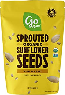 product image for Go Raw Sunflower Seeds with Sea Salt, Sprouted & Organic, 14 oz. Bag | Keto | Vegan | Gluten Free Snacks | Superfood