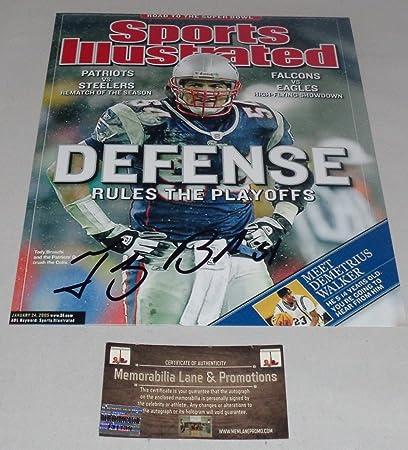 Tedy Bruschi Autograph 8X10 photo PATRIOTS COA Memorabilia Lane   Promotions 5a5eb0c37