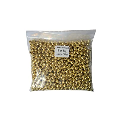 Faceted Hard Plastic Beads - 1 Bag - Approx. 8 oz Bulk Bag (8MM Gold Faceted): Arts, Crafts & Sewing
