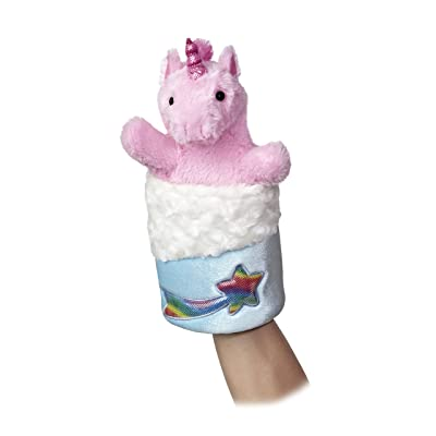 "Aurora World Pop-Up Unicorn Puppet Plush, 11"" Tall: Toys & Games"