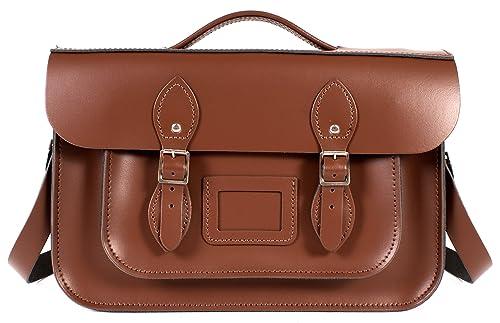 Oxbridge Satchels - Bolso estilo cartera de Piel para mujer Marrón marrón