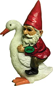 Michael Carr Designs 80048 Gnome on Goose Outdoor Decor