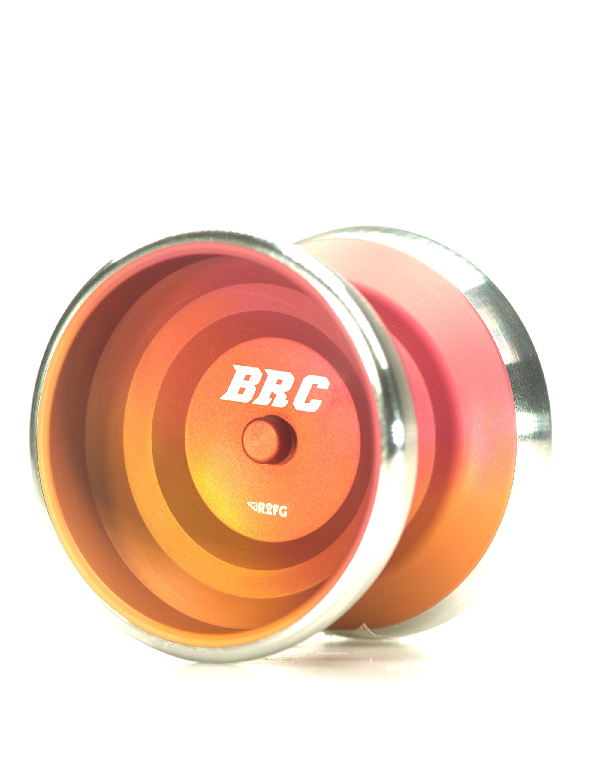 R2FG Professional Aluminum Yoyo Brc Orange Fade