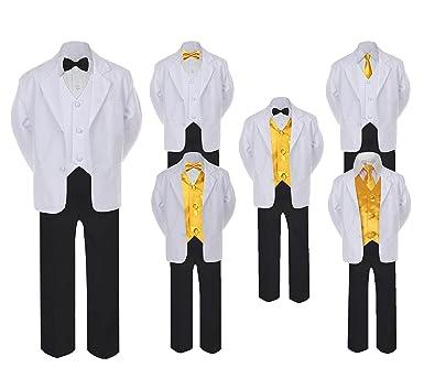 Amazon.com: 5 – 7pc Formal, color blanco y negro Suit Set ...