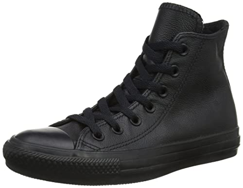 9d2eee8d78cd6b Converse Unisex Adults  Chuck Taylor All Star Mono Leather Hi Top ...