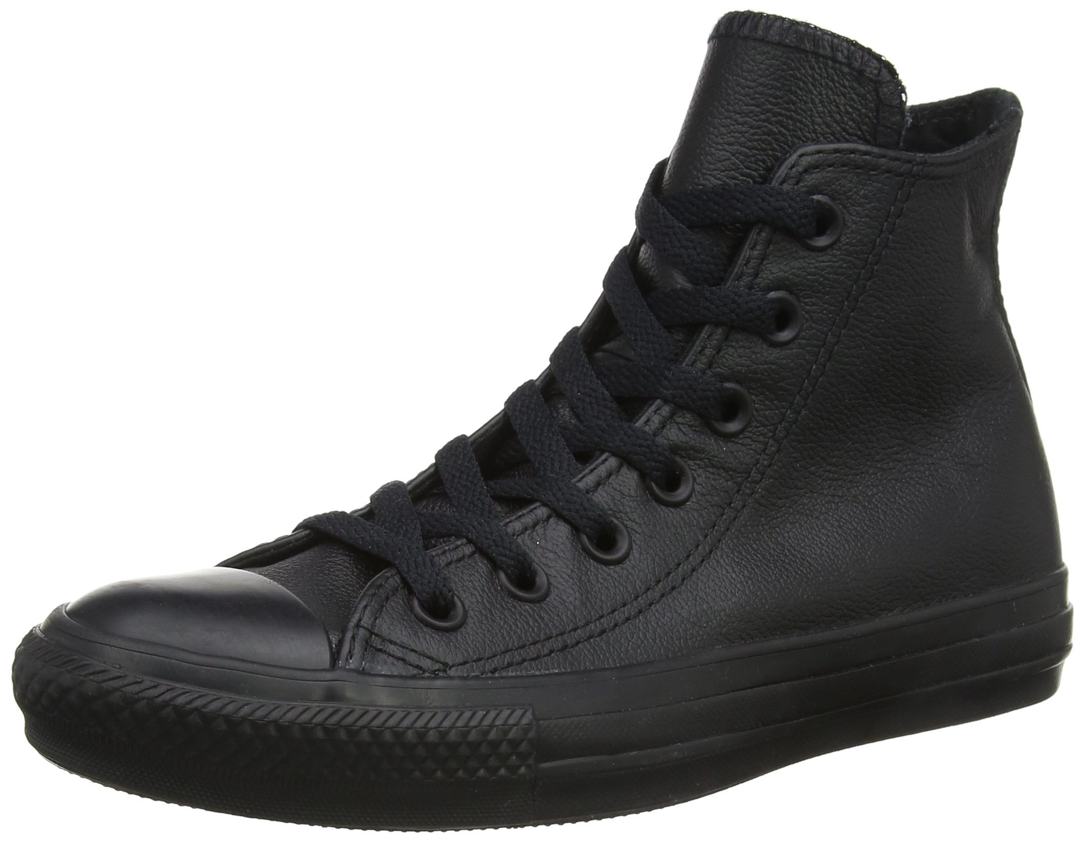 Converse Hi Top Leather Black Mono 6.5