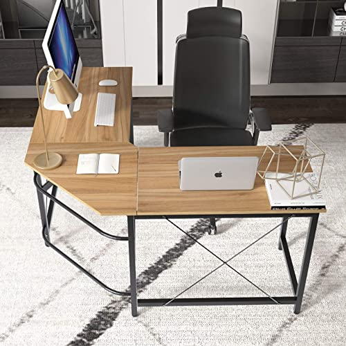 SogesGame 5959 Inches Computer Desk L Shaped Corner Desk Gaming Desk Large Size Home Office Desk