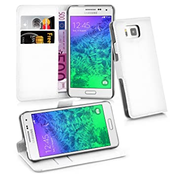Cadorabo - Carcasa para Samsung Galaxy Alpha en Color Blanco