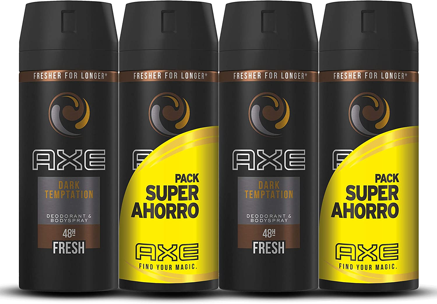 Axe Dark Temptation Pack Duplo Ahorro - 2 Paquetes de 2 x 150 ml ...
