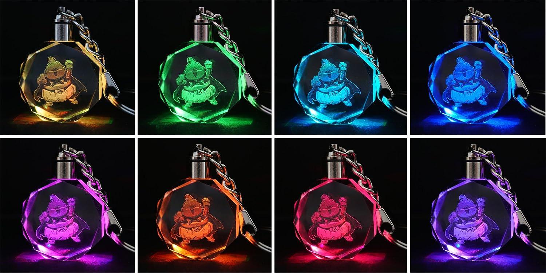 Son Goku Motivo CoolChange Ciondolo Portachiavi di Cristallo di Dragon Ball con Luce LED