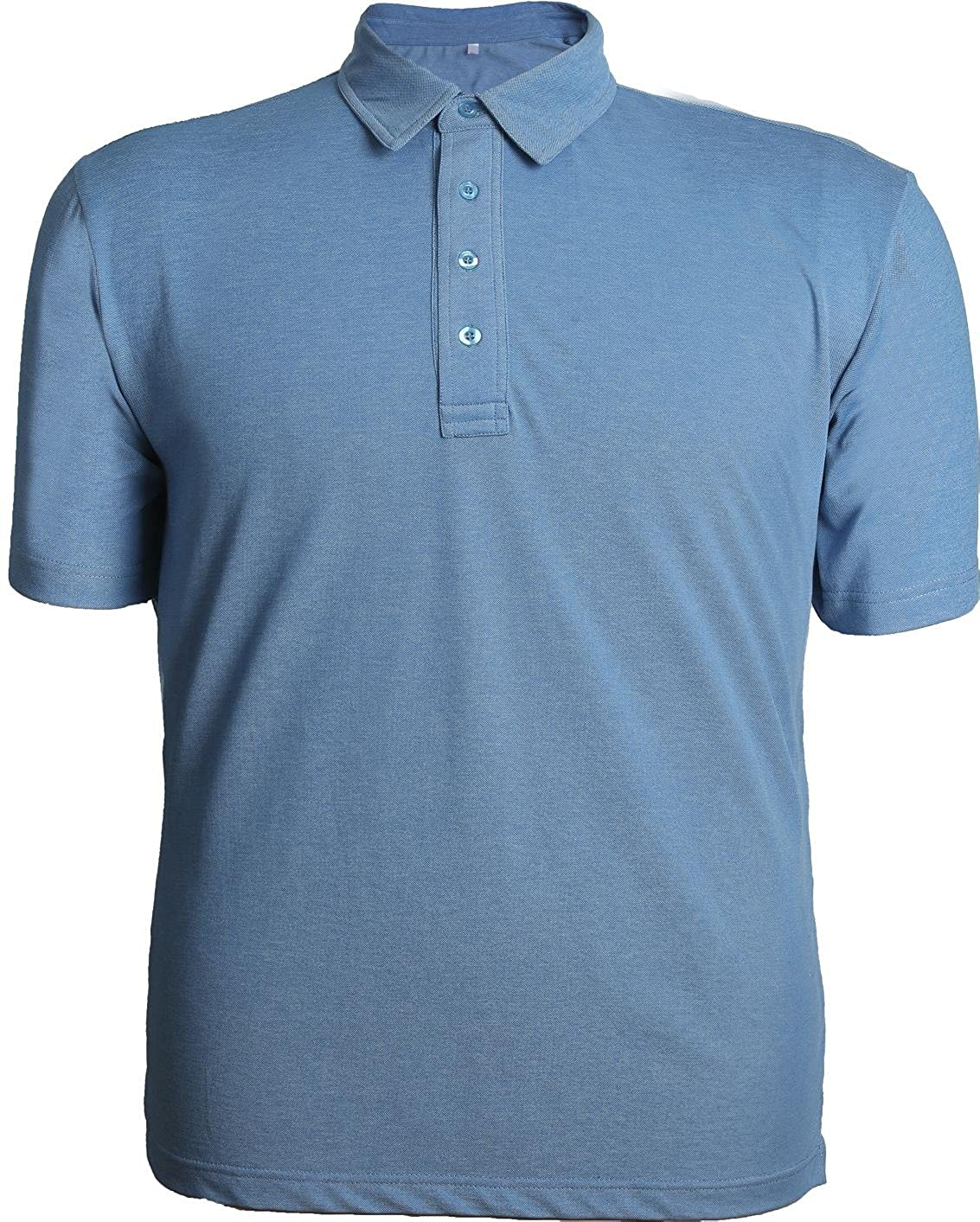Mens Light Weight Dry Fit Moisture Wicking Soft Touch Short Sleeve Performance Polo Shirt