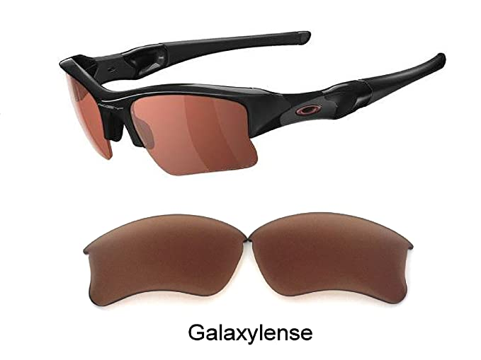 58d6840c21a Amazon.com  Galaxy Replacement Lens For Oakley Flak Jacket XLJ Sunglasses  Prizm Technology Brown  Clothing