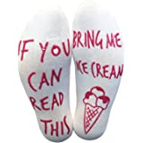 'If You Can Read This, Bring Me Ice Cream' Funny Socks For Ice Cream Lovers!
