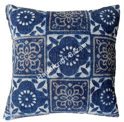 Amazon.com: Cojín de tela de algodón con patrón floral de ...