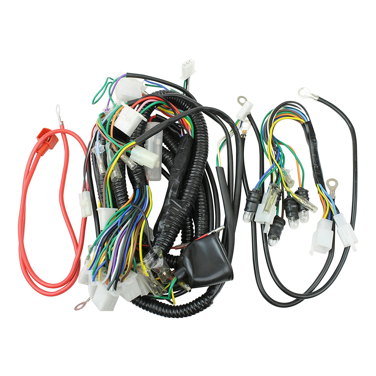 wrg 2891] kymco wiring harnessamazon com taotao vip 50cc scooter complete wire harness new automotive